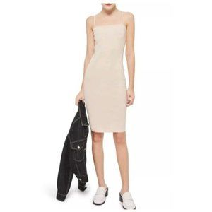 NEW Topshop Bodycon Nude Mini Dress Size 6